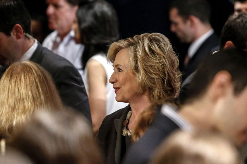 Democratic presidential candidate Hillary Clinton attend an event in New York on July 24, 2015. The Justice Department said it had received a request to probe whether Hillary Clinton mishandled sensitive government information by using her private em