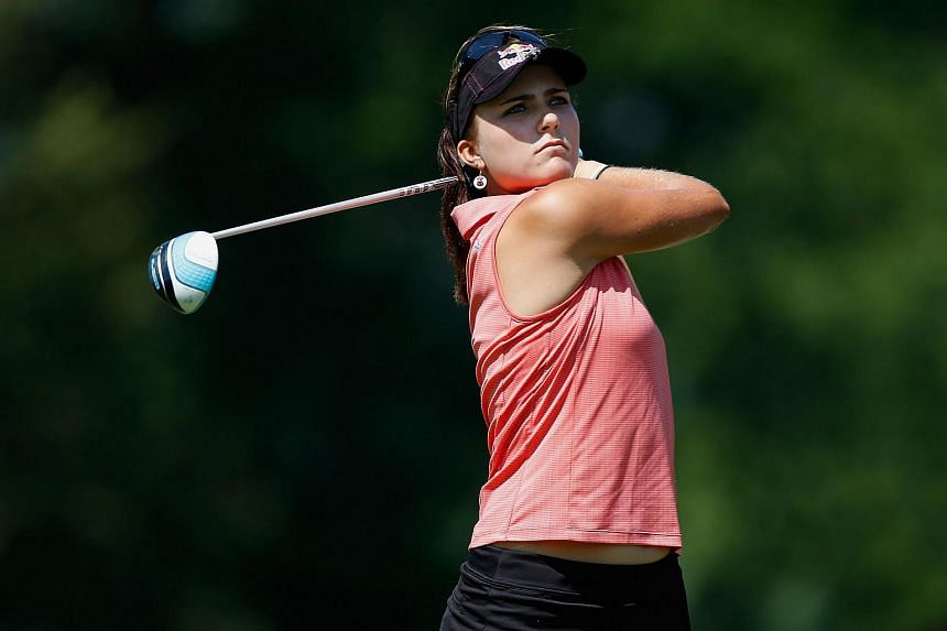 The 20-year-old sank six birdies on her first eight holes.