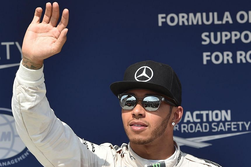 The pole, after clocking 1min 22.020sec, was Hamilton's ninth in 10 races this season.