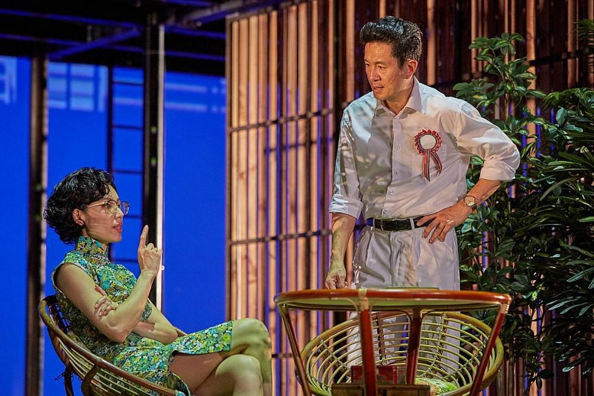 (From left) Sharon Au as Madam Kwa Geok Choo and Adrian Pang as Lee Kuan Yew in The LKY Musical.