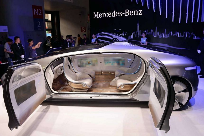 Mercedes-Benz displayed its driverless car at the Consumer Electronics Show in Shanghai in May.