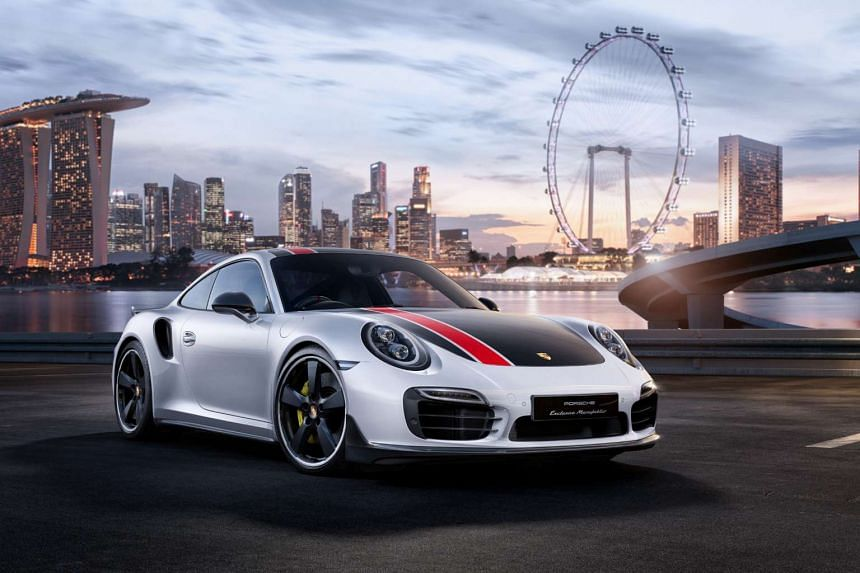 A 911 Turbo S SG50, custom-built to mark Singapore's 50 years of independence.