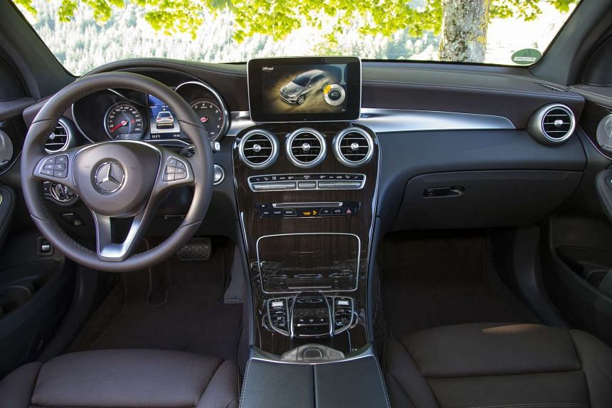 The cabin of the GLC boasts top-drawer materials.