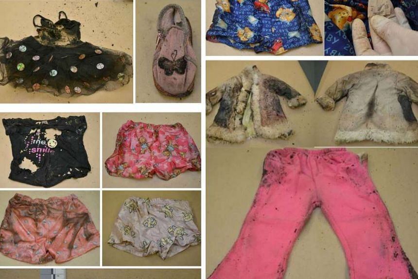 A suitcase (top left) with children's clothing was found, along with skeletal remains, in Wynarka, a town south-east of Adelaide, on July 15. A man aged about 60 is being sought by the police.