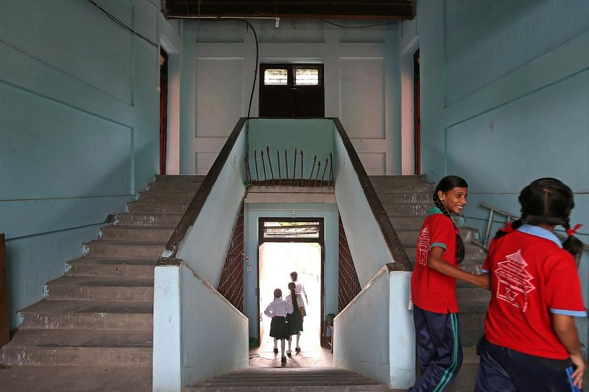 Students in Kanya Mandir Higher Secondary School, which underwent retrofitting works in 2014 with the support of the National Society for Earthquake Technology-Nepal and Nanyang Technological University.