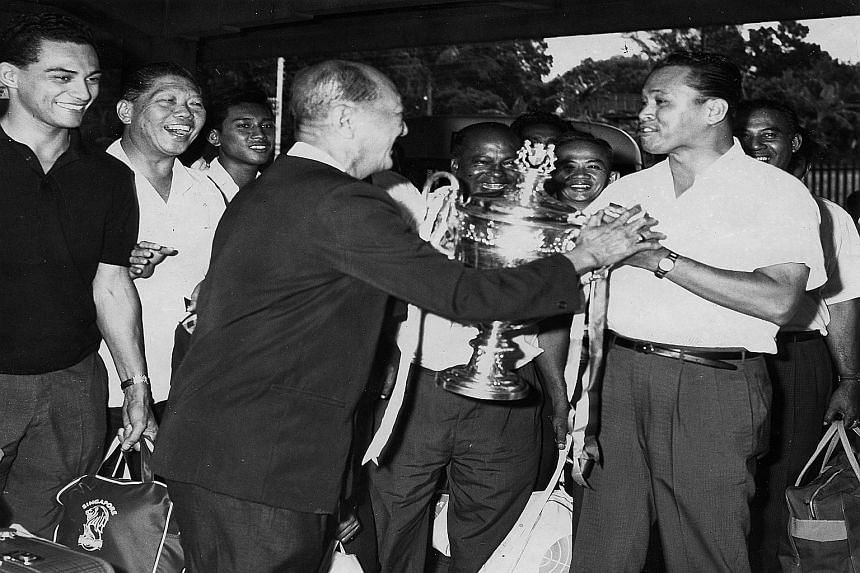 Former sports reporter Joe Dorai says Singapore was way ahead of the other state teams when its team won the Malaya Cup in 1965 (above).