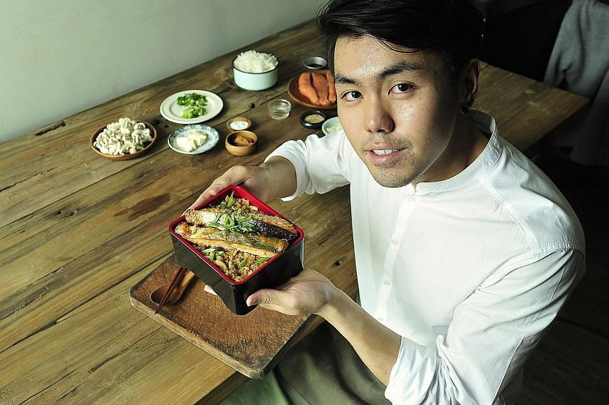 The miso paste adds umami while the cream cheese tames the miso's saltiness, says undergraduate Tan Chun Rong (above).