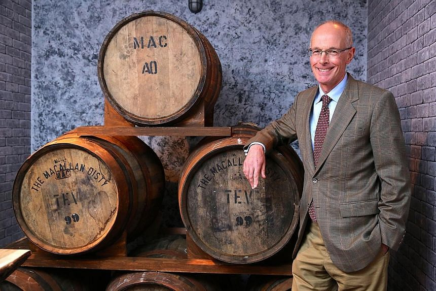 The Macallan's director of super premium whiskies David Cox (left) and The Macallan Rare Cask (above).