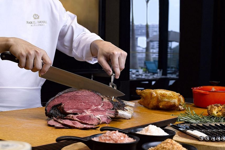 This 140-seat restaurant boasts a buffet that caters to carnivores, with a rotating selection of four to six premium meats daily.