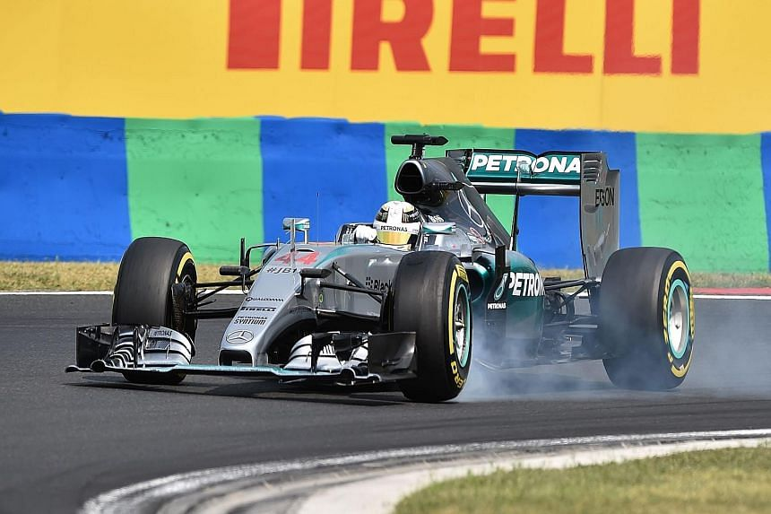 Lewis Hamilton's qualifying lap was more than half a second faster than that of Nico Rosberg, putting him in prime position for a fifth Hungarian Grand Prix win.