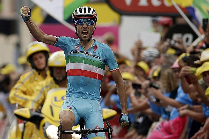 Nibali (above) insisted he did not take advantage of Froome's mechanical problem on Friday.