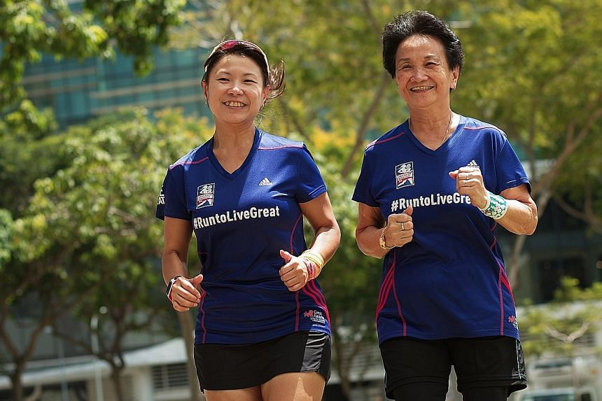 The 65-year-old Teo Yok Wan heeded the advice from daughter Zann Soh to start exercising after she was diagnosed with high blood pressure and cholesterol.