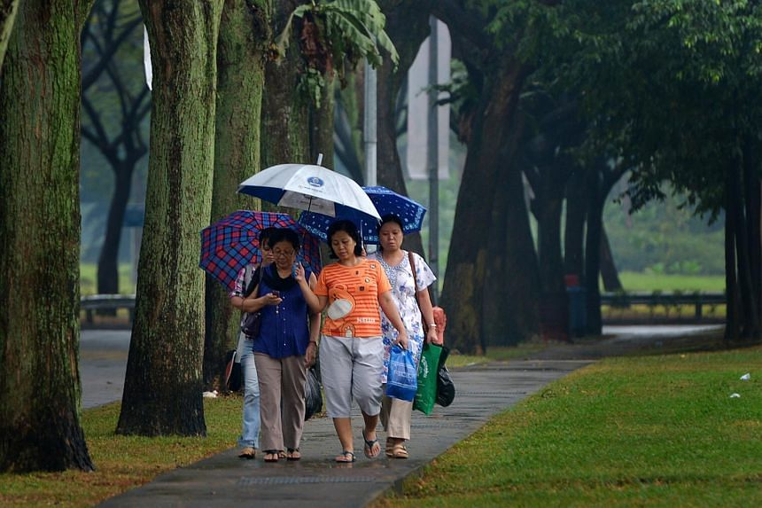 Thunder and heavy rain is expected in many parts of Singapore on Sunday afternoon.
