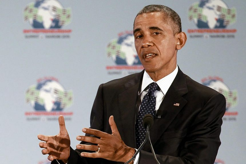 President Obama delivers a speech during the official opening of the GES at the United Nations Environment Programme headquarters in Nairobi on July 25, 2015.