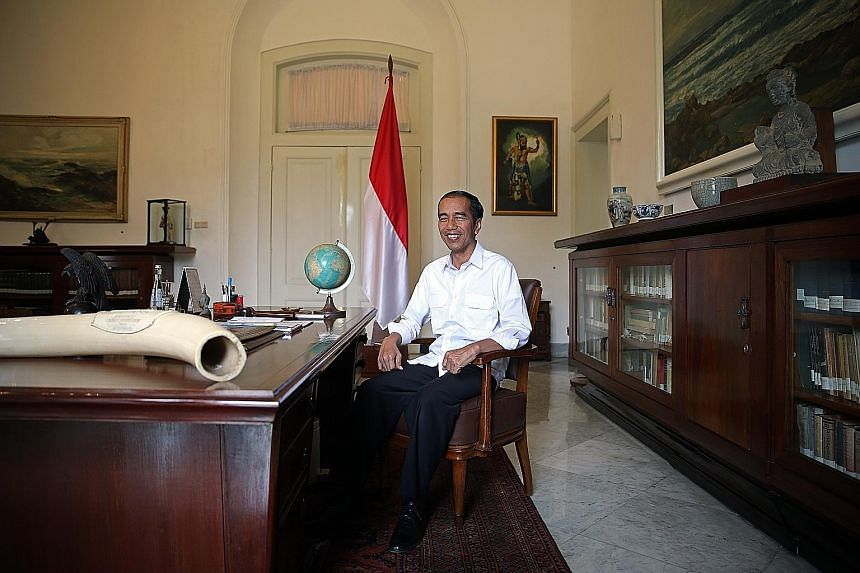 President Joko Widodo made a pitch to Singapore businesses to be part of Indonesia's growth story during an interview with The Straits Times at the Bogor Palace yesterday.