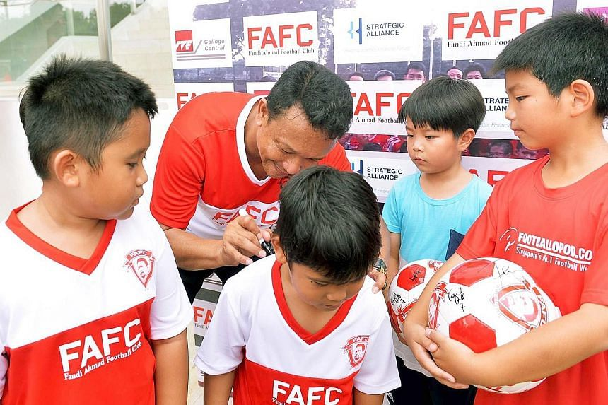 Singapore football icon Fandi Ahmad intends to coach children and teenagers from the ages of three to 18, and provide fee subsidies for those from the lower-income groups.