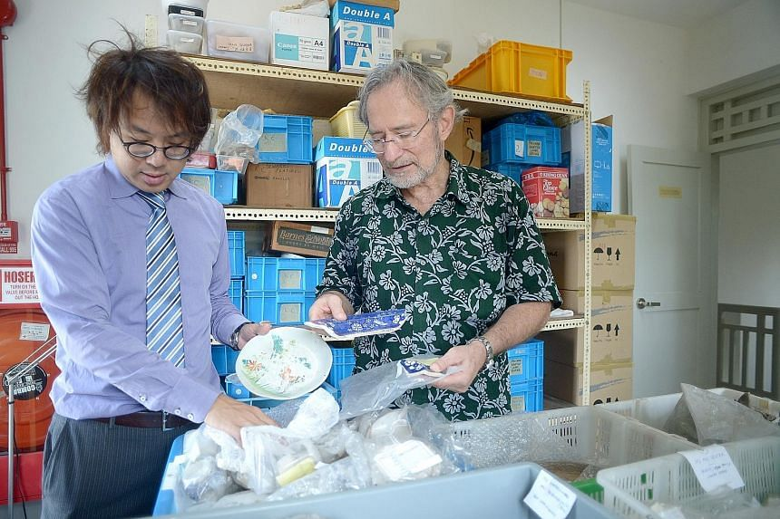 Mr Lim Chen Sian (left) and Dr John Miksic, both archaeologists, say they need greater resources and manpower to work on the haul of artefacts unearthed so far and to conduct more digs at sites they have identified.