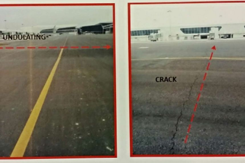 Cracks and undulating surface were discovered on the taxiway leading to the runway of the upcoming Kuala Lumpur International Airport 2 (KLIA2), Malaysia's budget carrier terminal.