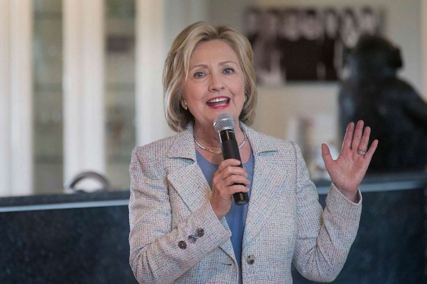 Hillary Clinton promised on Sunday to push for a dramatic increase in renewable power production.