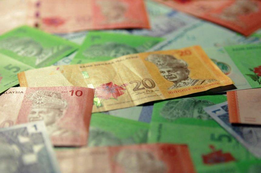 Malaysian ringgit bank notes.