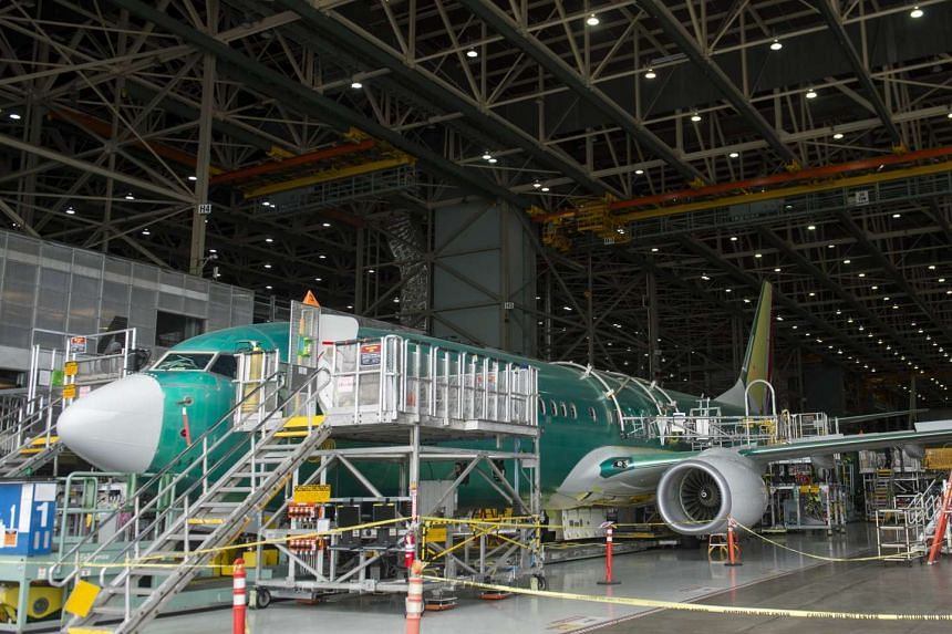 A Boeing 737 aircraft is seen during the manufacturing process at Boeing's 737 airplane factory in Renton, Washington, on May 19, 2015.