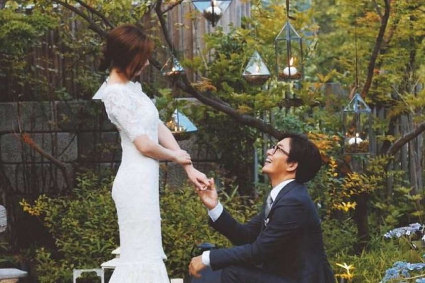 K-drama superstar Bae Yong Joon posted a picture of himself and his bride-to-be, singer Park Soo Jin, on Instagram before their wedding ceremony was to take place.