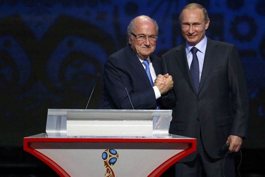 The 2018 World Cup qualifying draw, attended by Fifa president Sepp Blatter and Russian President Vladimir Putin (right), was beamed live to 170 countries. Mr Putin has promised to host a tournament that will provide fans and players with a grand sporting