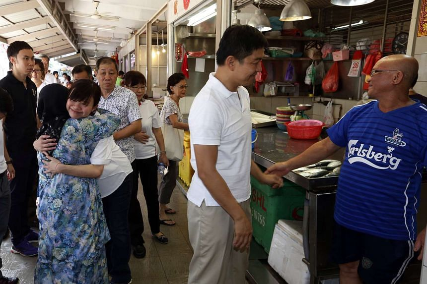 Social and Family Development Minister Tan Chuan-Jin and his fellow Marine Parade GRC MP Tin Pei Ling on Sunday visited residents in MacPherson that is set to become a single-seat constituency in the next election.