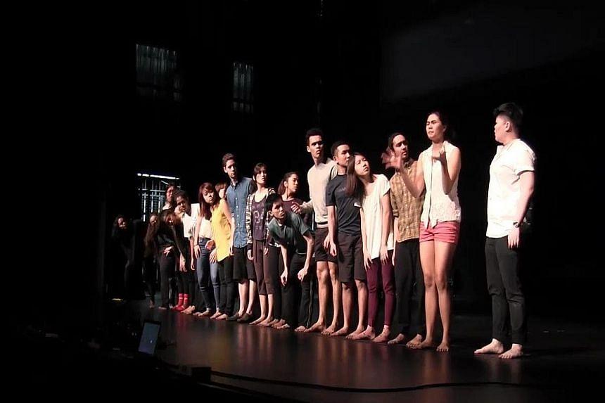 Dance doyenne Goh Lay Kuan (right). Revolutionary Model Play 2.0 (left).