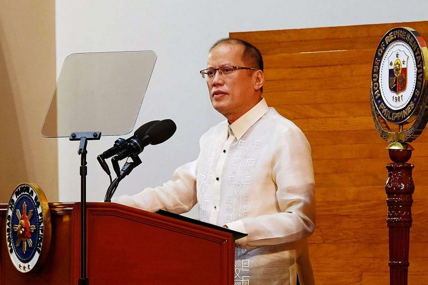 Philippine President Benigno Aquino III delivers his last State of the Nation Address at Congress in Quezon City, east of Manila, Philippines, July 27, 2015.