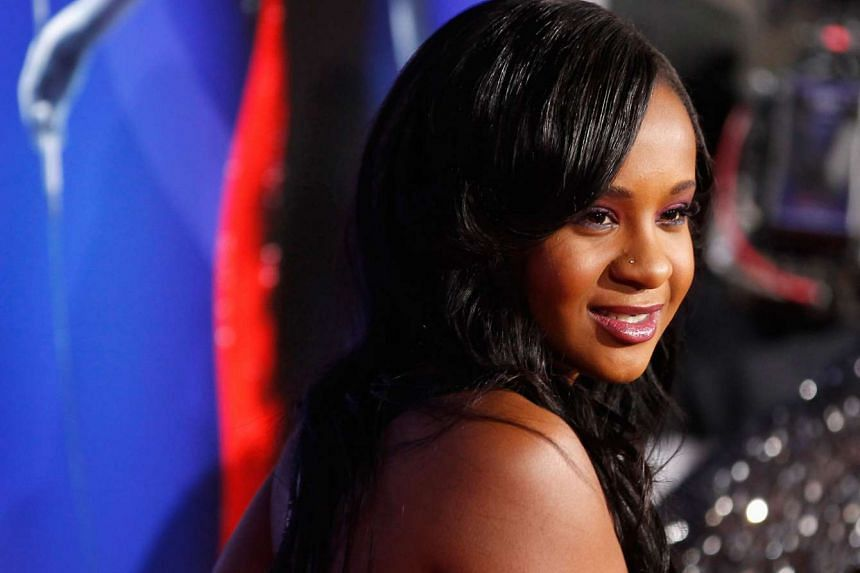 Bobbi Kristina Brown posing at the premiere of Sparkle in Hollywood, California on Aug 16, 2012.