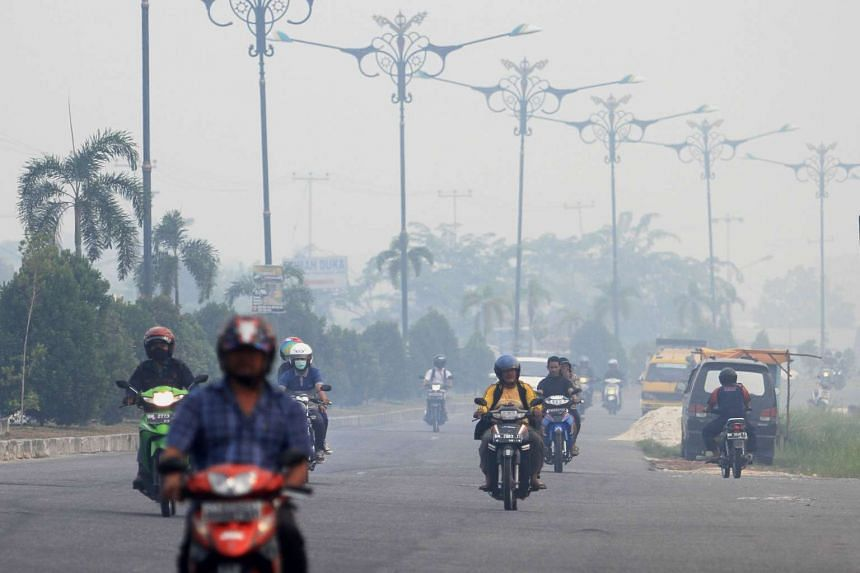 The haze mostly comes from forest fires on Indonesia's western island of Sumatra.
