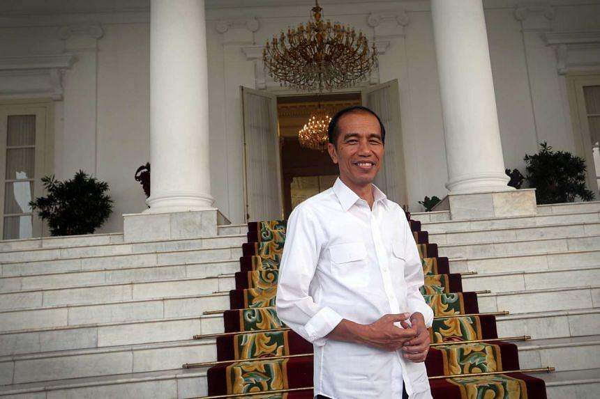 President of Indonesia Joko Widodo at Istana Bogor in Jakarta, Indonesia.