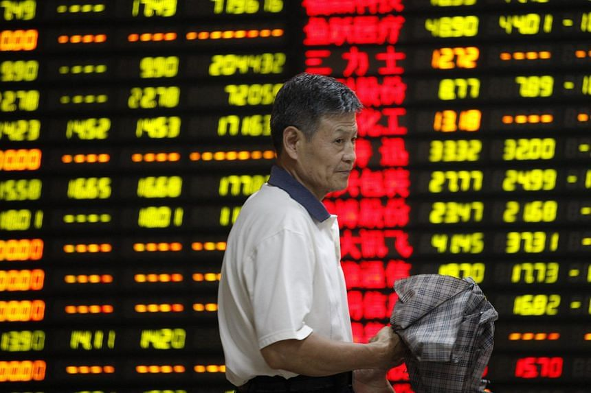 The Shanghai Composite dropped 1.8 per cent at 9:45 a.m. local time on Tuesday.