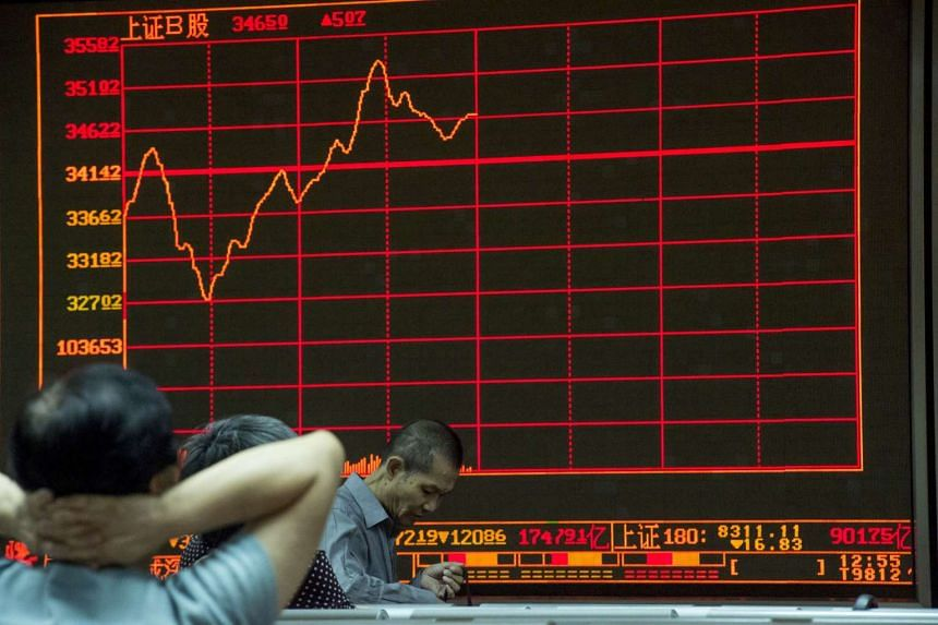 The Shanghai Stock Exchange Composite Index dropped 1.68 per cent, extending losses on its biggest rout in eight years.