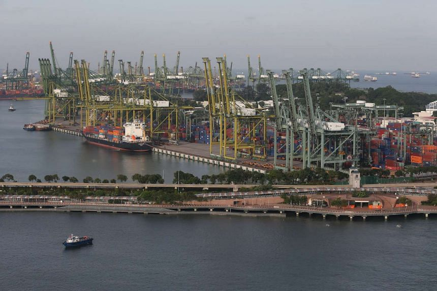 A file picture of Singapore's port. PHOTO: SPH