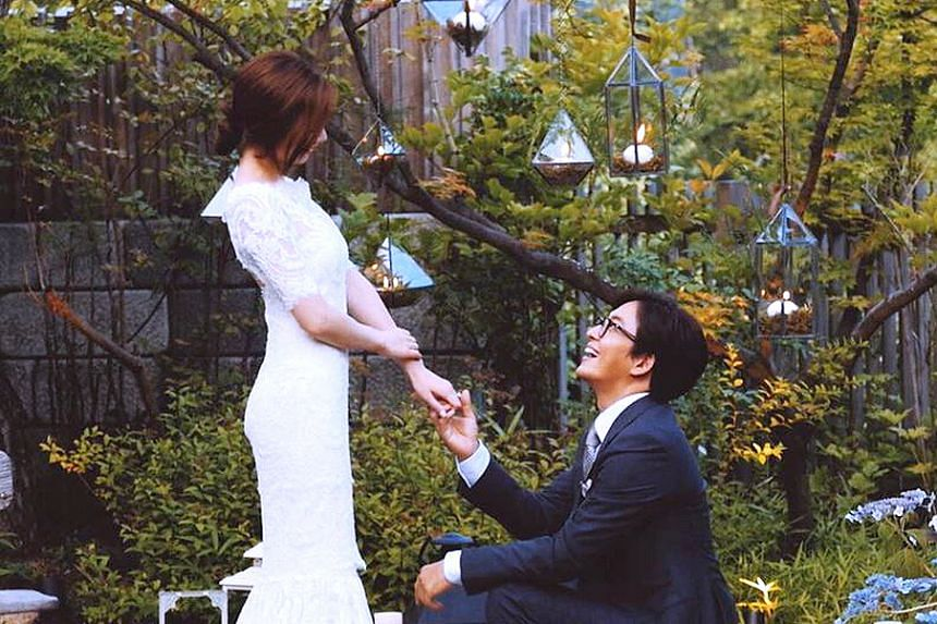 Bae Yong Joon shared a photo of his wedding on Instagram.