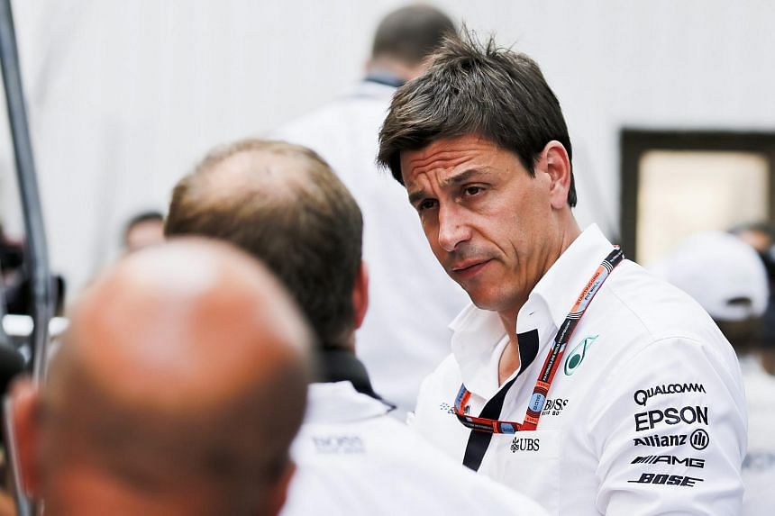 "Austrian Mercedes motor sport boss Torger Christian ""Toto"" Wolff during the third practice session at the Hungaroring race track in Mogyorod on July 25, 2015."