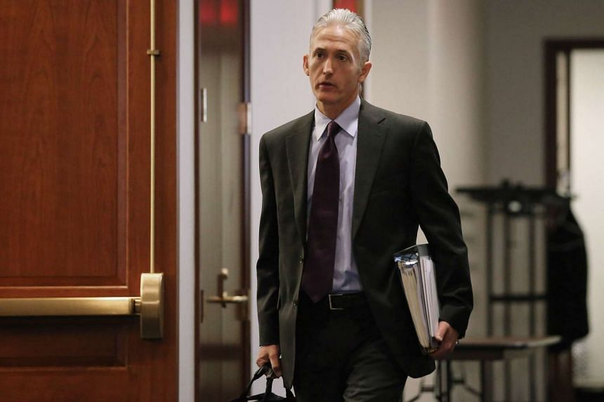House Select Committee on Benghazi Chairman Trey Gowdy arrives for a closed door meeting in the House Visitors Center at the U.S. Capitol.