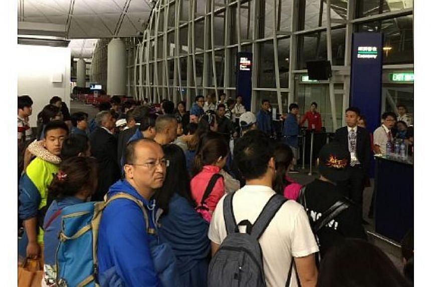 More than 100 passengers on a Hong Kong Airlines flight were stranded at the airport due to delays.
