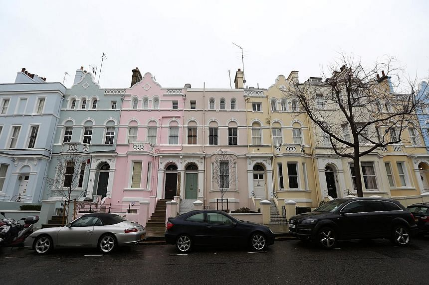 Houses in the Kensington and Chelsea borough. Sentiment was hurt when the stamp duty for luxury homes was raised in December.