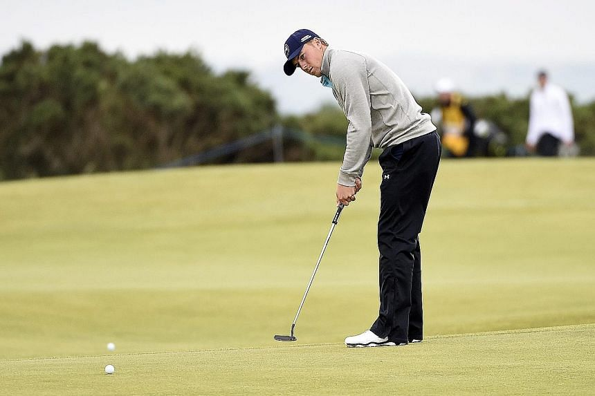 Jordan Spieth sinking a putt in the final round of the British Open at St Andrews, where he missed the play-off by one stroke. Ian Poulter, who wields a mean putter himself, rates him one of the best.