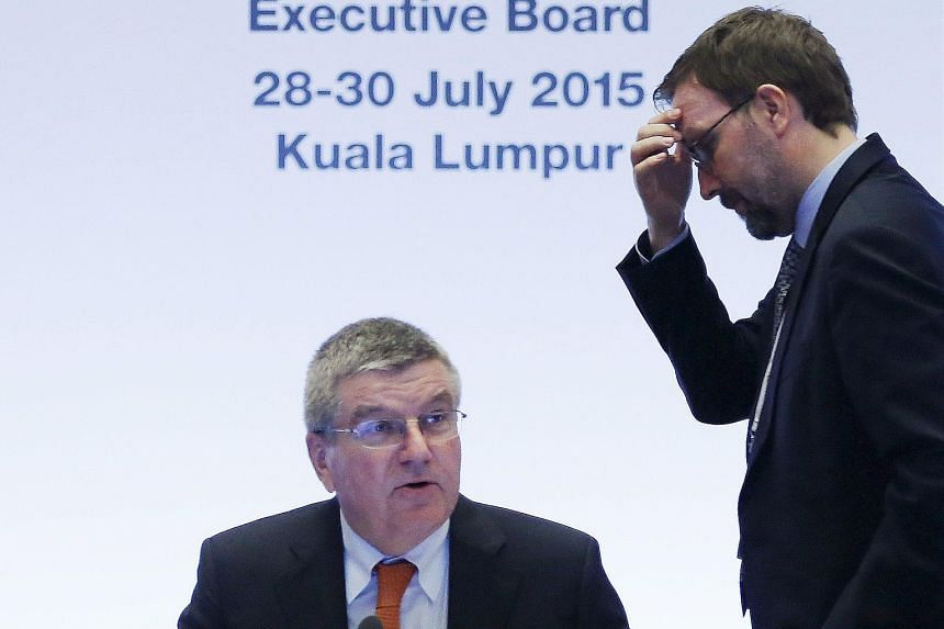 IOC president Thomas Bach making opening remarks at an executive board meeting in Malaysia ahead of Friday's vote for the host cities of the 2022 Olympic Winter Games and 2020 Youth Olympic Winter Games. The German wants the multi-event Games to be s