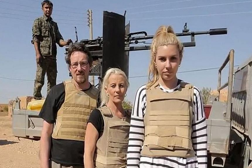 Participants of an Australian reality show which took them to the Syrian front lines where they came under fire from ISIS mortars. The broadcaster said the group was accompanied by a private security firm during the trip.