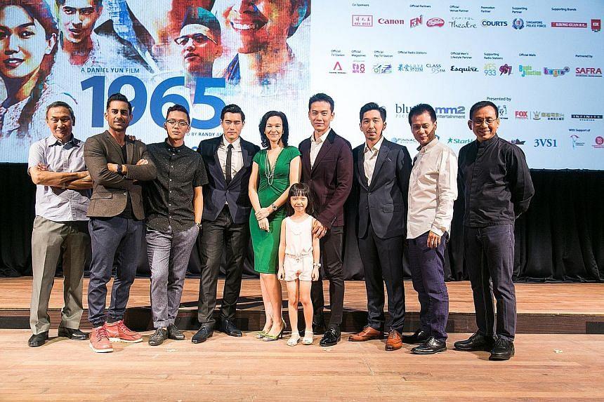 Cast and crew of 1965 (above from left): Lim Kay Tong, Mike Kasem, Sezairi Sezali, James Seah, Deanna Yusoff, Sun Yi En (little girl), Qi Yuwu, Randy Ang, Ng Say Yong and Daniel Yun.
