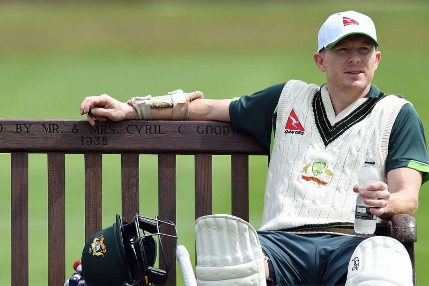Chris Rogers during a practice session at Edgbaston in Birmingham, England on July 28, 2015 ahead of the third Ashes cricket test match against England.
