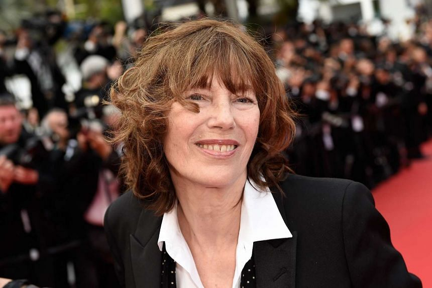 British actress and singer Jane Birkin at the Cannes Film Festival in May 2015.