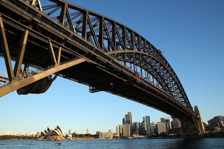 The Sydney Harbor Bridge in Sydney, Australia.