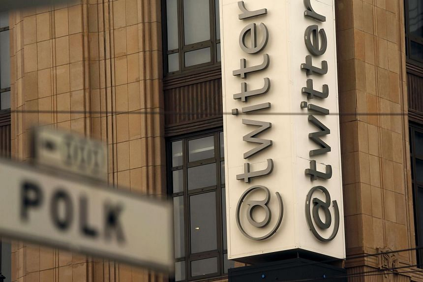 Twitter at its corporate headquarters in San Francisco, California.