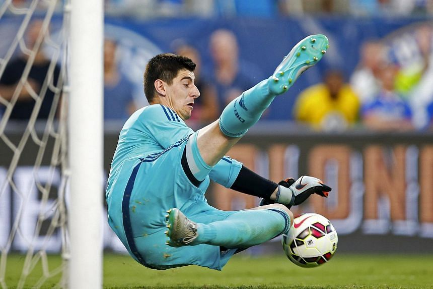 Chelsea goalkeeper Thibaut Courtois made a shootout save and the reigning English Premier League champions beat European kings Barcelona 4-2.